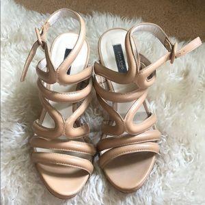 Zara Basic Nude Sandals